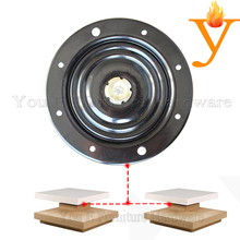 Furniture Parts Round Without Noice Metal Double Kinds Bearings Swivel Plate For Bar Swivel Chair(China)