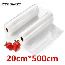 Youe shone L Size 20cmx500cm/Roll Vacuum Sealer Food Saver Bag for Kitchen Vacuum Storage Bags Free Shipping(China)