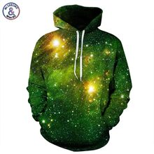 Mr.1991INC Space Galaxy 3d Sweatshirts Men/Women Hoodies With Hat Print Stars Nebula Autumn Winter Loose Thin Hooded Hoody Tops(China)