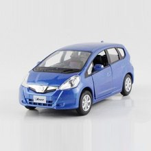 Freeshipping Children Honda FIT Model Car 1/36 5inch Diecast Metal Cars Toy Pull Back Kids Gift