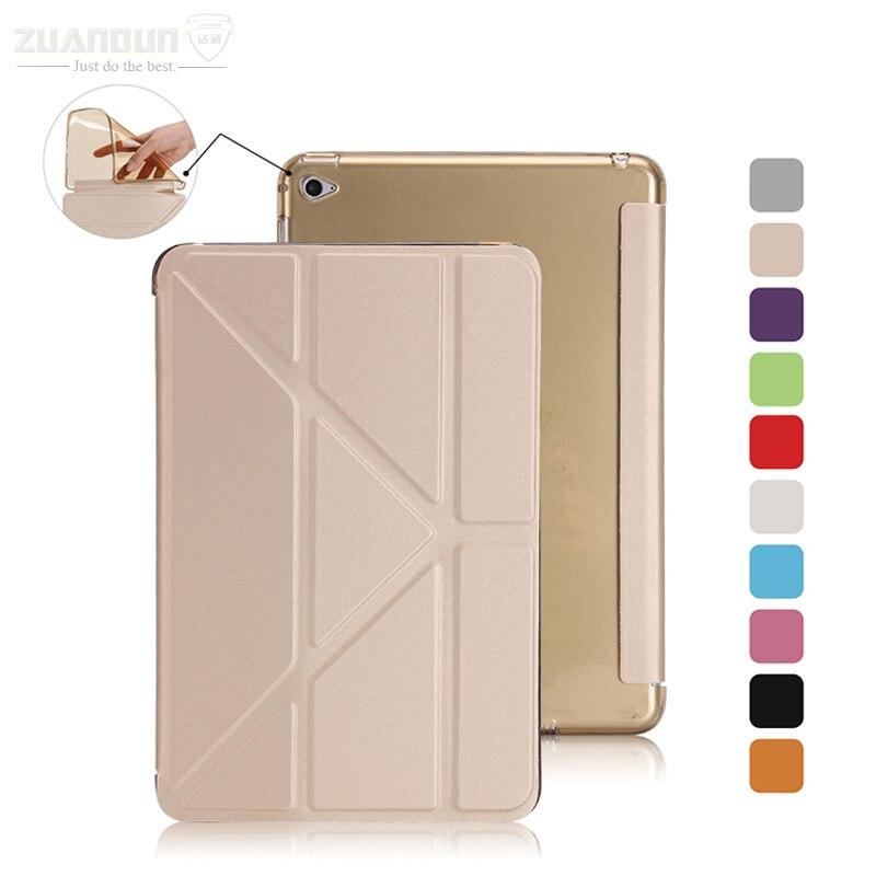 ZUANDUN PU Leather Case for Apple iPad mini 4 Fashion Slim Multi Shapes Folding Leather Flip Cover for iPad mini 4 Smart Case<br><br>Aliexpress