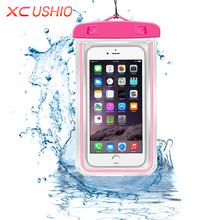 Universal Waterproof Phone Case Pouch Outdoor Travel Waterproof Storage Bag for iPhone 6/6s P/5/5S Samsung S3/S4/S5 Huawei G6/P6(China)