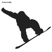 Tancredy 12*10cm Snowboarder 3D Stickers Funny Reflective Car Stickers and Decals THE SECOND HALF PRICE Car Styling Sticker(China)