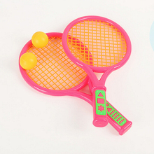 Outdoor Beach Parent-Child Game Educational Toys Plastic Ping-pong Badminton Tennis Racket Ball Kids Outdoor Sports Toy Set