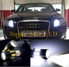 2 x White 6000K  1156 7506  P21w Canbu No Error For CREE Chips  LED Bulbs For Audi A1 A3 A6 S3 Q7 Etc DRL Daytime Running Lights