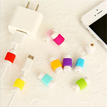 USB Cable Protector Cover Case For Apple Iphone 4 5 5s 6 7 Plus 6S Colorful Phone Charging line data cable Earphone Accessories(China)