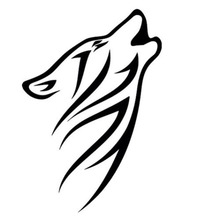 10.5*15.2CM Tribal Howling Wolf Pattern Vinyl Car Stickers Reflective Car Styling Decals Black/Silver S1-2266(China)