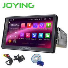 "JOYING Android 6.0 Car Radio screen system Single 1 DIN 7"" Universal Stereo Quad Core Car Head Unit support 3G/4G/WIFI/OBD/SWC(China)"