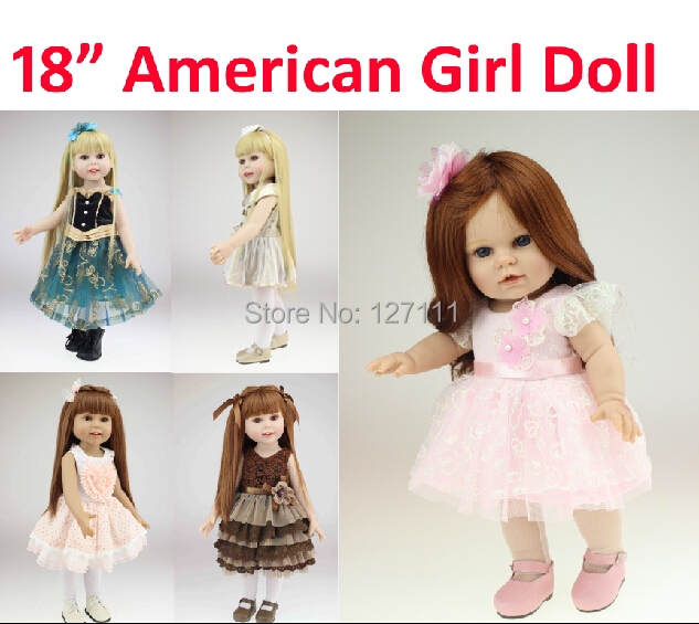 Vinyl American 18 inch Girl Doll Collection Baby Alive Toys Handmade   brinquedos meninas dolls new Style Baby Gift In Stock<br><br>Aliexpress