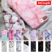 SoCouple For iphone 5s 5 SE 6 6s 8 6/7/8 plus X Granite Scrub Marble Stone image Painted Silicone Phone Case For iphone 7 case(China)