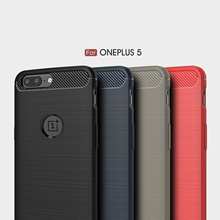 "Oneplus 5 case cover Soft Rubber TPU back shockproof hard oneplus5 cover 5.5 "" full protector one plus5 fundas One plus 5 cases(China)"
