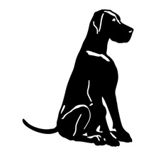 14.5*17.8CM Great Dane Dog Car Styling Decorative Stickers Vinyl Decal Cute Cartoon Animal Automobile Accessories C6-0857(China)
