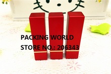 4G aluminumsquare shape red lip tube for lip sticker/ lip balm lip sticker tube can be used for cosmetic package(China)