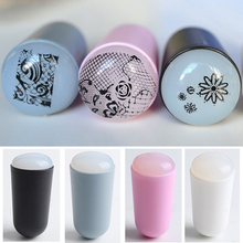 New 3cm Marshmallow Nail Art Stamper Big Clear Jelly Stamper Professional Squishy Refill Stamping Nail Art (Random Color)(China)