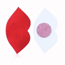 New Lady Women Stripper Kisses HOT Black Adhesive Paste Stickers Sweet Lip Shaped Breast Disposable Nipple Cover Pasties(China)