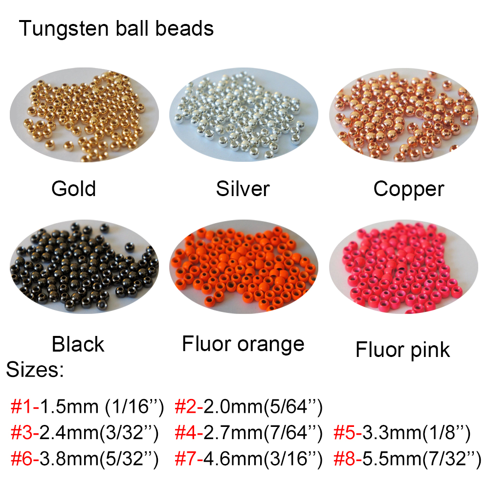 "TUNGSTEN FLY TYING BEADS SILVER 4.5 MM 3//16/"" 100 COUNT"
