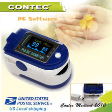 US shipping FDA Fingertip Pulse Oximeter SPO2 USB Software OLED Display CMS50D+ 24 Hours Record Pulse Rate Alarm Monitor(China)