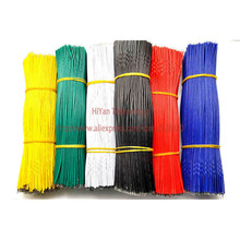(50pcs/lot) 15cm 150mm 24AWG Colors Double Tinned Tin Plated Electronic Copper Wire Jumper Wire Cable Easy to Welding