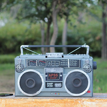 ZAKKA Japanese Grocery Vintage Simulation Iron Handmade Radio Antique Metal Radio Receiver Model Crafts Cushions Home Decor