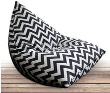 Cover only  No Filler - Black chevron outdoor bean bag sofa chair ,home furnitures, zigzag seat beds