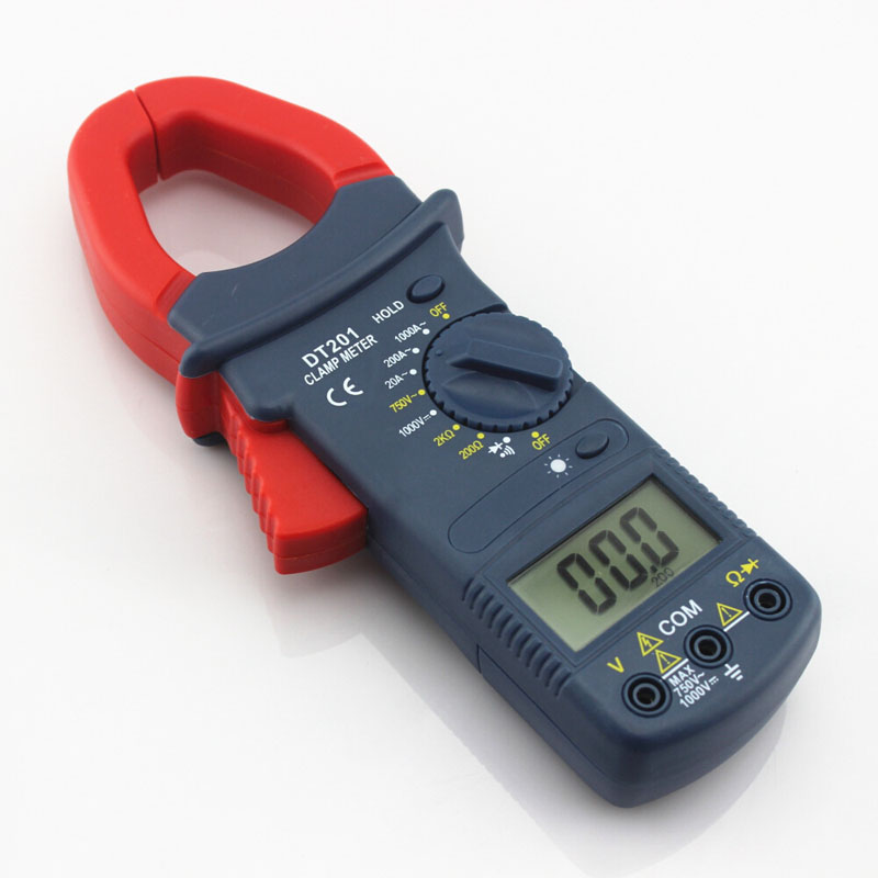 DT - 201 Digital Display Clip-on Multimeter Handheld Excellent Packaging Voltage Current Tabled  <br><br>Aliexpress