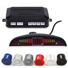 1 Компл. Автомобильные СВЕТОДИОДНЫЕ Датчик Парковки Комплект 4 Датчики для всех автомобилей Обратный Резервный Радиолокатор Monitor System 12 В 5 цвета