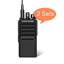 2PCS Zastone L2000 Walkie Talkie High Power 20W UHF 400-480MHz Handheld Radio 4000mAh Battery Portable CB Ham Two Way Radio