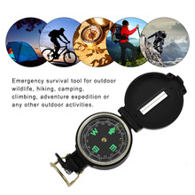2017 hot Multifunctional Folding Lens Compass Multifunctional American Style Outdoor Plastic Folding Guiding Direction Tool