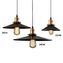 Loft RH Industrial Warehouse Pendant Lights American Country Lamps Vintage Lighting for Restaurant/Bedroom Home Decoration Black(China)