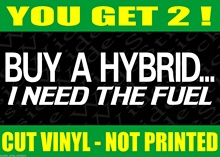 Car Styling For Car Sticker 2 x Funny BNS 4x4 Ute Car Bumper Stickers BUY A HYBRID For Custom V8 parts