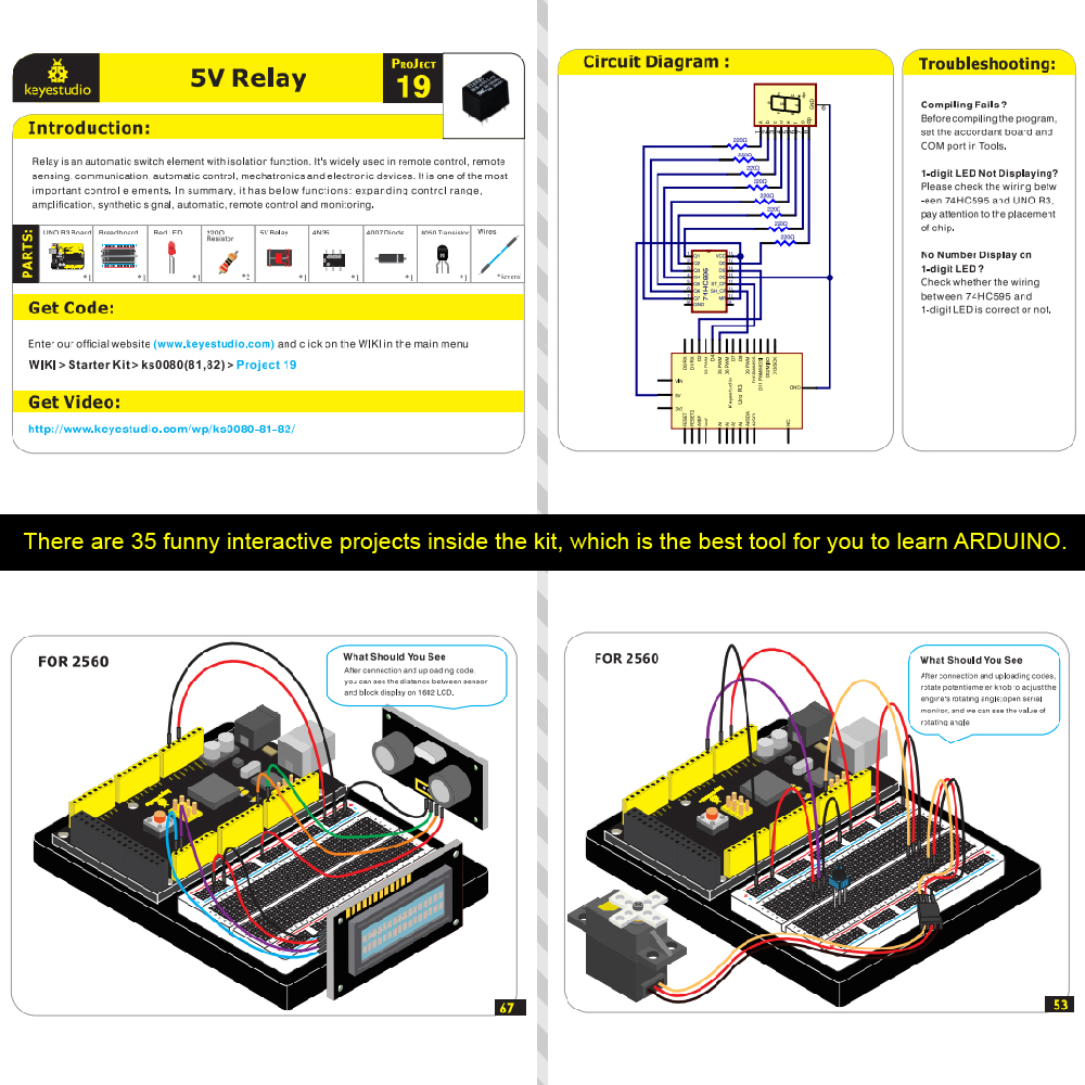 MEGA 2560 STARTER KIT FOR ARDUINO MAKER -8