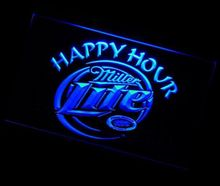 jb-026 Miller Lite Happy Hour Beer Bar pub club 3d signs LED Neon Light Sign