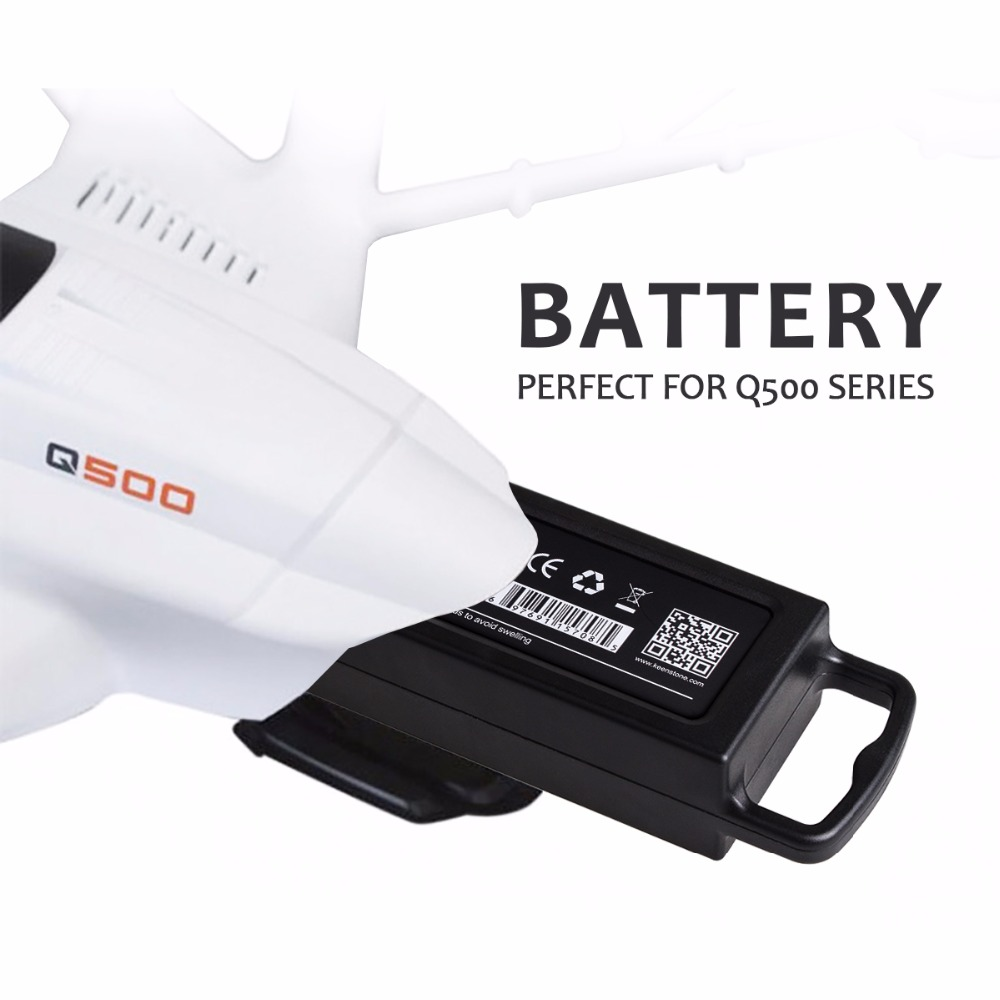 Keenstone Upgrade 3S 6400mAh 11.1V 70Wh LiPo Battery for Yuneec Typhoon Q500/Q500 4K/Q500+ Typhoon G Drone RC Quadcopter
