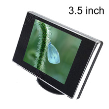 New supports rearview camera reverse priority two channels AV Input 3.5 inch car monitor color TFT LCD Monitor display(China)