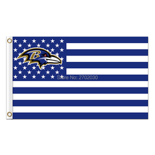 Us Design Country Baltimore Ravens Flag Football Team Super Bowl Champions 90x150 Cm Polyester Printed Banner(China)