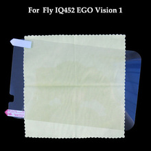 High definition anti fingerprint Glossy Clear Screen Protector film for Fly IQ452 EGO Vision 1