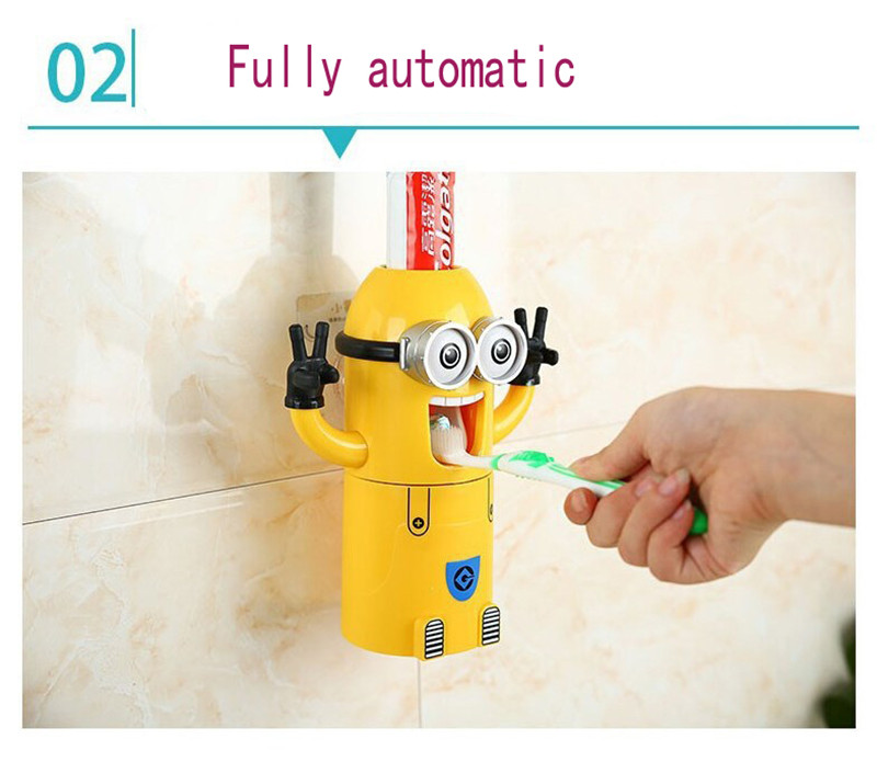 Minion Automatic Toothpaste dispenser + Brush Holder 9