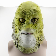 Creature Black Lagoon mask Latex Full head Masks Overhead animal Lizard Scary Monster Latex Fish Cosplay Merman Props Halloween