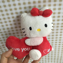"hello kitty Holding Heart Love you Decor toy stuffed plush doll toy 13cm 5""(China)"