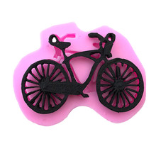 3D Silicone Mold Bicycle Bike Cake Baking Mould Tool Food-grade Silicone Household Products DIY Fondant Cake Baking Mold