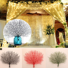 Artificial Flowers Coral Branch Peacock Shape Party Decoration Craft Decor wedding decoration christmas decorations for home(China)