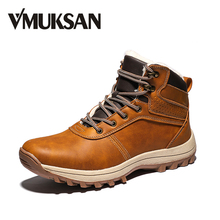 VMUKSAN 겨울 와 털 Men Boots (High) 저 (Top Lace Up Warm 겨울 Boots 대 한 망 2019 Brand New Fashion Casual men's 발목 Shoes(China)