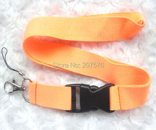 Free Shipping orange Blank plain Key Lanyard Phone Charm neck strap ch-6(China)