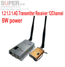 5W 12ch 1.1G 1.2G 1.3G Wireless AV transceiver for cctv 1.2G Video Audio Transmitter image transmission FPV CCTV transmitter