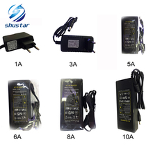 12V LED Strip Power Supply Adapter EU/US/UK/AU Plug For AC 110-220V to DC 12V 1A/2A/3A/5A/6A/8A/10A Transformer for LED Strip
