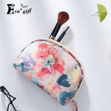 Portable painting Bathroom cosmetic bag for make-up Small jewelry/change coins bags makeup organizer box travel package handbag(China)