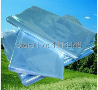 500pcs 16 x 24 cm PVC Heat Shrinkable Bags Film Wrap Cosmetic Packaging Wrap Materials<br>