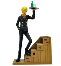 19cm Sanji The New World Eternal Calendar Sanji One Piece Animation Cartoon Action Figure PVC Model Toys Dolls Gift