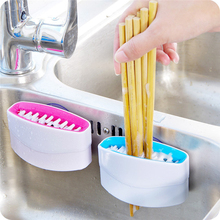 Tenske scrub brush 2017 Kitchen Multifunction Chopsticks Brush Fruit Cleaning Brush with a Suction Cup*30 GIFT Drop(China)