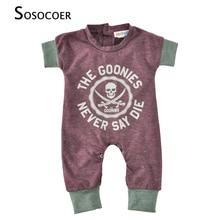 Newborn Baby Rompers Summer Baby Clothes Cartoon Skull Boys Girls Jumpsuit Infant 2018 New Short Sleeve Bodysuit Kid Baby Romper